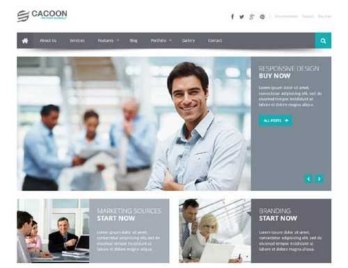 Cacoon Business WordPress Template