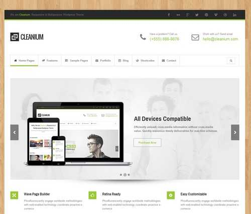 Cleanium Multi Purpose Retina Theme