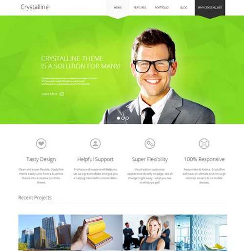 Crystalline Ultimate WordPress business themes