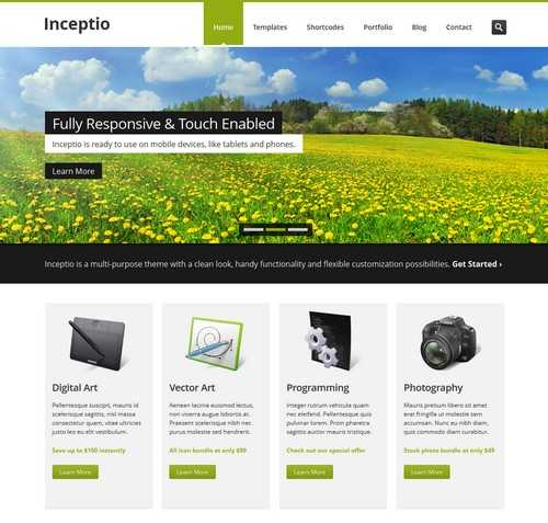 Inceptio WordPress business themes