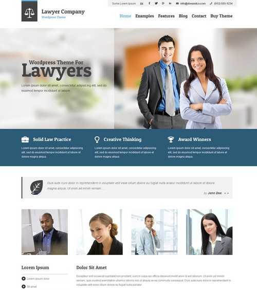 Lawyer Adaptive WordPress Theme