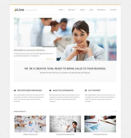 Line Corporate WordPress Theme