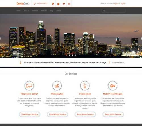OrangeCore WordPress Theme