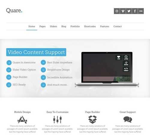 Quare Multi Purpose Theme