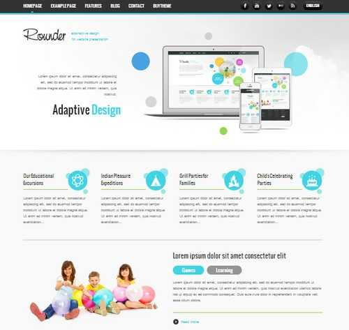 Rounder WordPress Business Theme