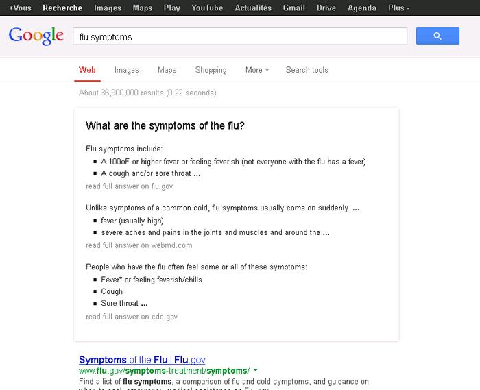 | Google répond aux questions d'ordre médicale dans les SERPs
