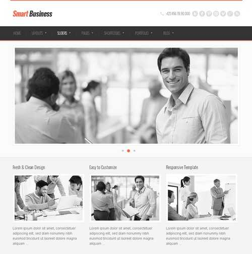 SmartBusiness Responsive WordPress business themes