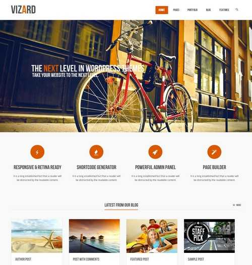 Vizard WordPress Business Theme