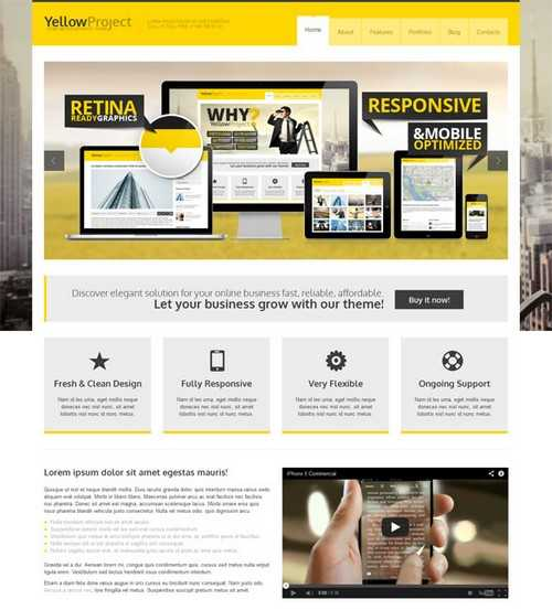 YellowProject Retina Theme