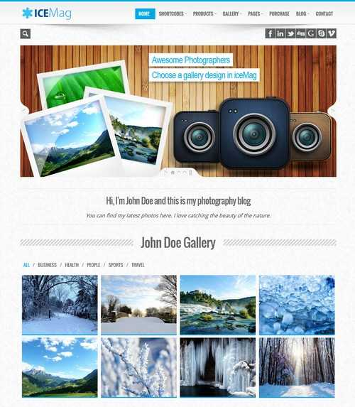 iceMag Responsive Business Theme