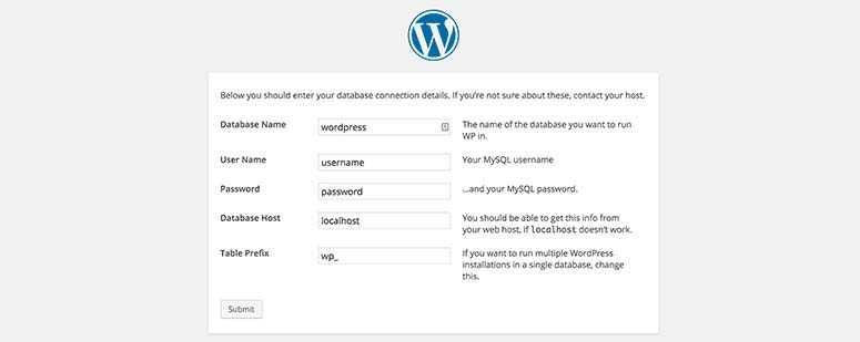 Créer un fichier de configuration WordPress