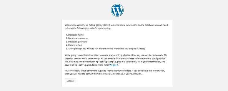 Installez WordPress manuellement