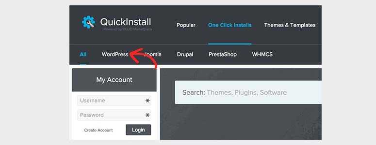 Installation de WordPress